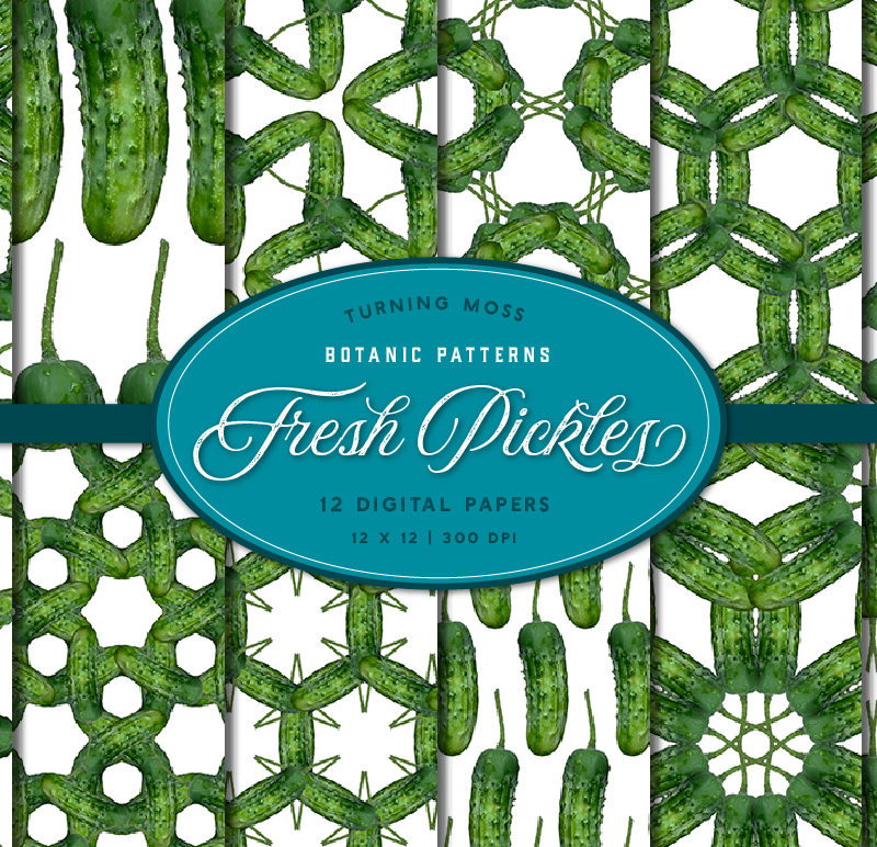 Fresh Pickle Patterns – Digital Paper