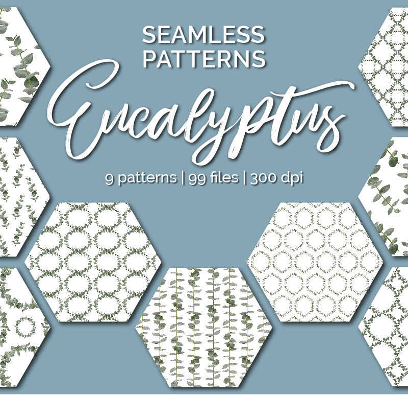 Eucalyptus – Seamless Patterns